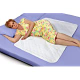 """Premium Quality Incontinence Mattress Non Skid Bed Pad Quilted Waterproof and Washable Postpartum Mat 34"""" x 52"""" for Absorbent"""