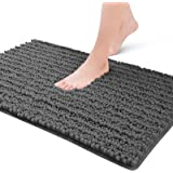 Color&Geometry Original Luxury Chenille Bath Rug Mat, 24x16 Shaggy Rugs, Soft and Absorbent, Machine Wash Dry, Non-Slip Carpe