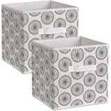 DII Foldable Fabric Storage Containers for Nurseries, Offices, Closets, Home Décor, Cube Organizers & Everyday Storage Needs,