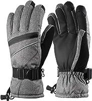 Fazitrip スキーグローブ メンズ 3M 手袋 タッチパネルサポート 高機能断熱素材 滑り止め 通気性 防水 防寒 保温