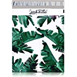 """Pack It Chic - 10"""" X 13"""" (100 Pack) Tropical Leaves Poly Mailer Envelope Plastic Custom Mailing & Shipping Bags - Self Seal ("""