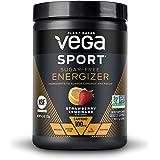 New Vega Sport Sugar Free Energizer Strawberry Lemonade (35 Servings, 4.3 oz) - Vegan, Keto-Friendly, Gluten Free, Sugar Free