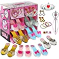 (Pink) - fash n kolor My First Princess Dress Up and Play Shoe and Jewellery Boutique with Crown and Fashion Accessories Set
