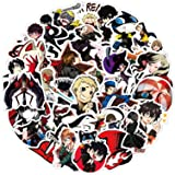 Persona Stickers for Water Bottle 50pcs, Waterproof Vinyl Decal for Teen Laptop, Skateboard, Phone, Travel case, Cool Game St