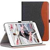 Ztotop iPad Mini5 2019 ケース 高級PUレザー製 オートスリープ機能 ペンシル収納 カードポケット付き 手帳型 全面保護 2019春発売の新モデルiPad Mini(第五世代)専用 スマートケース(デニム、ブラック)