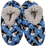 Border Collie Super Soft Womens Slippers - One Size Fits Most - Cozy House Slippers - Non Skid Bottom - perfect for Border Co