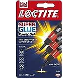 Loctite Mini Trio Powerflex Gel, Strong Super Glue Gel for High-Quality Repairs, All Purpose Adhesive for Flexible Materials,