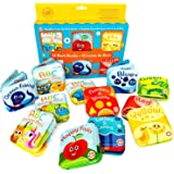 Super Bath Book Set of 12 (Set of 4: Fruit, Ocean, ABC, Numbers Books + Set of 4: Color Recognition Bath Books, Yellow, Green