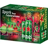 Heineken Lager Beer Can Celebrations Pack, 320ml (Pack of 24)