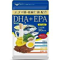 シードコムス 亜麻仁油 エゴマ油配合 DHA+EPA サプリメント 約1ヶ月分 30粒 青魚 美容 健康 ダイエット サ…