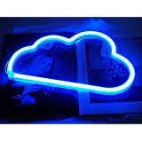 Blue Cloud Neon Light, Cute Neon Cloud Sign, Battery or USB Powered Night Light as Wall Decor for Kids Room, Bedroom, Festiva