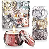 YINUO LIGHT Scented Candles Gift Set, 100% Soy Wax Portable Travel Tin Candles, Perfect Women Gifts for Stress Relief and Aro