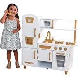 KidKraft Modern White Play Kitchen with Gold Accents & 27Piece Cookware Set - Amazon Exclusive