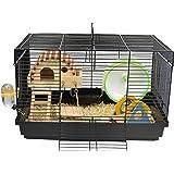 Aeon hum ハムスターケージ ハムスターハウス 天然木材 通気 組立式 小動物ケージ 飼育ケージ 内装 幅広い セ…