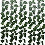 GTIDEA Fake Ivy Vines 12 Pack 82 Feet Greenery Leaf Garland Artificial Hanging Vines Plant Faux Silk Pothos Plant for Home Ga