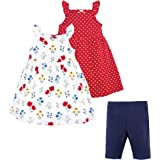 Hudson Baby Baby and Toddler Girl Cotton Dresses and Leggings