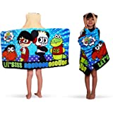 "Franco Kids Bath and Beach Soft Cotton Terry Hooded Towel Wrap, 24"" x 50"", Ryan's World"