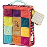 B. toys by Battat Baby Blocks – Stacking & Building Toys for Babies – 10 Soft Blocks for Learning Numbers, Shapes, Colors, An