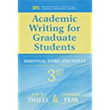 Academic Writing for Graduate Students: Essential Tasks and Skills (Michigan Series in English for Academic & Professional Pu