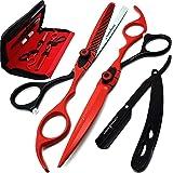 Saaqaans MSS-04 Stylish Haircut Scissors Set - Hair Cutting Scissor for Barber/Hairdresser/Hair Salon + Texture/Thinning Hair