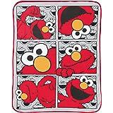 Jay Franco Sesame Street Hip Elmo Throw Blanket - Measures 46 x 60 inches, Kids Bedding - Fade Resistant Super Soft Fleece -