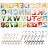 Alphabet Resin Molds Backward LET'S RESIN Letter Number Silicone Molds for Resin, Epoxy Molds for Making Keychain/House Numbe