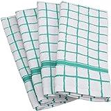 DII 100% Cotton, Machine Washable, Ultra Absorbant, Basic Everyday 16 x 26 Terry Kitchen Dish Towel, Set of 4- Aqua Window Pa