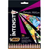 BIC Intensity Premium Colouring Pencil - Pack of 36 Fashion Assorted Wood Colour Pencils