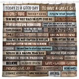 Sunlit Inspirational Motivational Happiness Quotes for Courage Be Awesome Poster Print Rustic Cabin Shower Curtain Teak Close