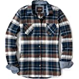CQR Women's Plaid Flannel Shirt Long Sleeve, All-Cotton Soft Brushed Casual Button Down Shirts