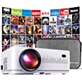 DBPOWER L21 LCD Video Projector, 4200L 1080P 1920x1080 Supported Full HD Mini Movie Projector with HDMIx2/USB/SD/AV Ports, Co