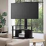 "Artiss TV Stand Floor Standing TV Mount Bracket Shelf for 32"" to 60"" Screen Universal ±35° Swivel Adjustable Height Home Livi"