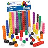 Learning Resources Mathlink Cubes, Homeschool, Educational Counting Toy, Math Cubes, Early Math Skills, Math Manipulatives, S