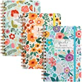 LABUK 3 Packs Small Hardcover Hardback Spiral Notebooks, 5.5x8.3 inch, 160 Lined Pages with Premium Thick Paper, Strong Twin-