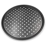 Pizza Crisper Pan,Non-Stick, Carbon Steel, Tray Pizza Pan with Holes,12 inch Pizza Pan,Outer edge is 12 5/8 inch in diameter