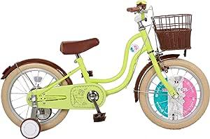 【Amazon.co.jp限定】macaron(マカロン) 子供用16インチ自転車 補助輪付 Light Green(ライトグリーン)