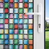 Gila 50165299 Privacy Control Stained Glass Atlantis Decorative Residential Glue No Adhesive Static Cling DIY 3ft x 6.5ft (36