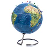"""Bullseye Office - Magnetic World Globe (Lacquer Finish) - 10"""" Magnetic Standing World Globe with Magnetic Pins - Perfect as O"""