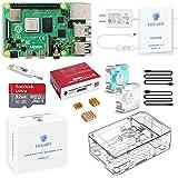 TRASKIT Raspberry Pi 4 Model B Starter Kit/ラズベリーパイ4B(4GB RAM)技適マーク付/MicroSDHCカード32GB NOOBSプリインストール/簡単に取り付けるケース/5.1V/3A Type-C