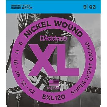 D'Addario ダダリオ エレキギター弦 ニッケル SuperLight .009-.042 EXL120 【国内正規品】