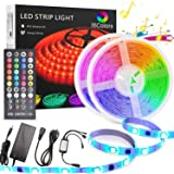 LED Strip Light 10M, TECHVIDA 32.8ft/10m 300 LEDs 16 Colors RGB SMD 5050 Strip Lights IP65 Waterproof Music Sync Rope Lightin