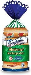 Gardenia Wholemeal Hamburger Buns, 4 Count, 250g