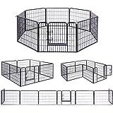 FEANDREA ペットサークル 犬猫 小動物用 大型 ペットフェンス カタチ変更可 扉付き 室内外兼用 犬ゲージ PPK86H
