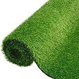 人工芝 ロール リアル 芝生 人工芝 シート 人工芝マット 1m×10m 芝丈35mm 密度2倍 固定ピン付 庭 ガーデ…