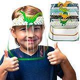Kids Face Shield Anti Fog I 4 PACK DINOSAUR Shields for Kids Reusable Masks