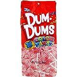 Dum Dums Color Party Lollipops, Light Pink, Bubble Gum Flavor, 12.8 Ounce, 75 Count Bag