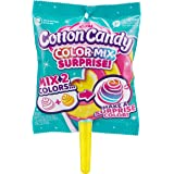 Oosh Slime Color Mix Surprise, Scented Fluffy, Soft and Stretchy Slime, Non-Stick Cotton Candy - Yellow Handle Teal Lollipop