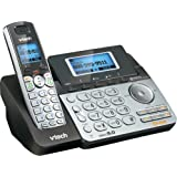 VTech DS6151 2-Line Cordless Phone System for Home or Small Business with Digital Answering System & Mailbox on Each line, Bl