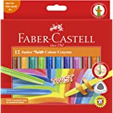 Faber-Castell Junior Triangular Twist Crayon, Asstd 12 Pack, (21-010036)