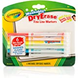 Crayola Fine Line Washable Dry Erase Markers (6 Count)